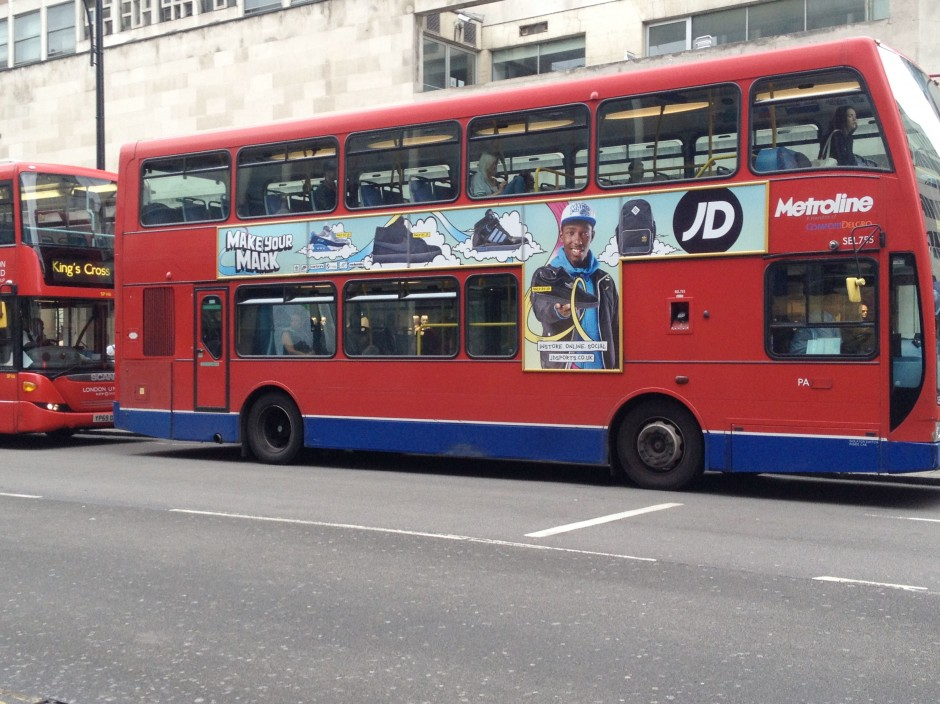 JD Sports London Bus