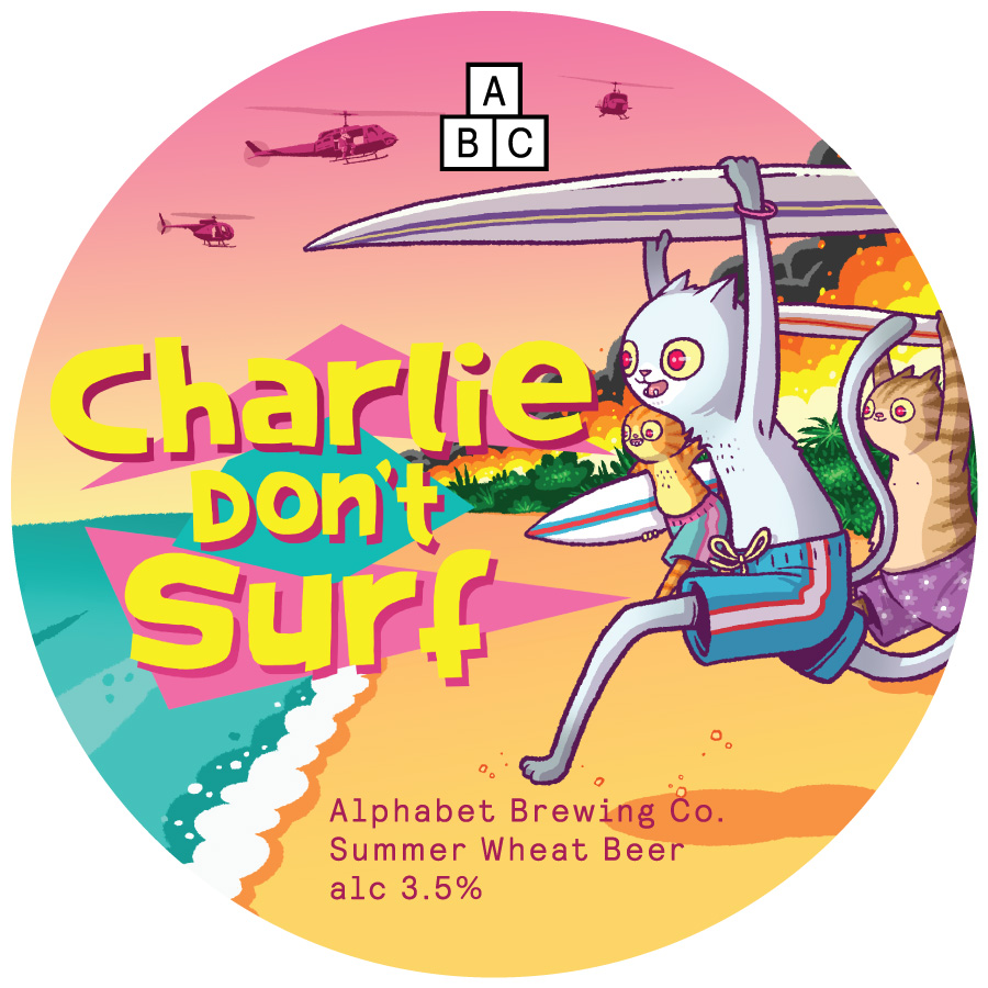 Charlie-Don't-Surf-Pump-Badge